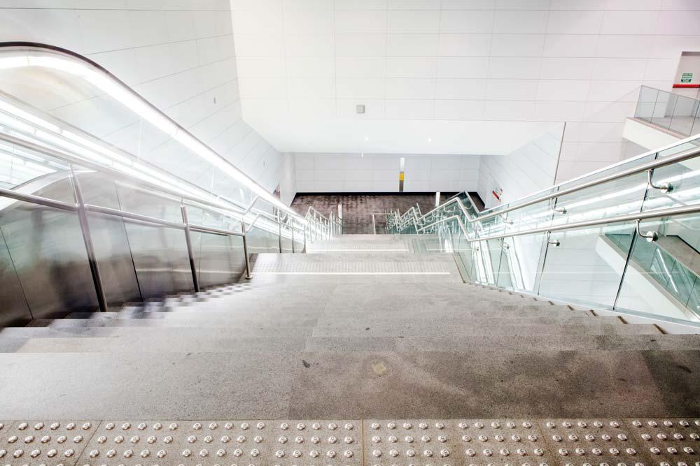 Metropolitana Brescia - Discesa scale San Faustino